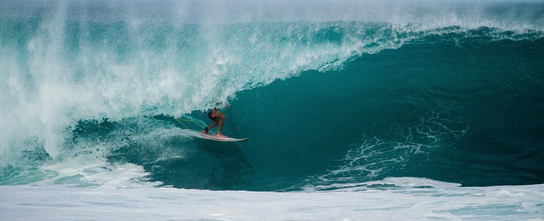 Surfing in Bali - Tuban Beach Area